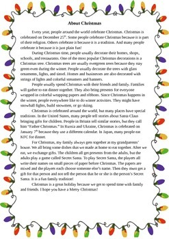 Writing Project: Christmas!