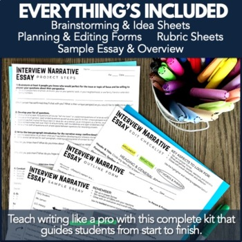 Writing PBL Project: Interview Essay Narrative