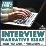 Writing PBL Project: Interview Oral History Essay Narrative