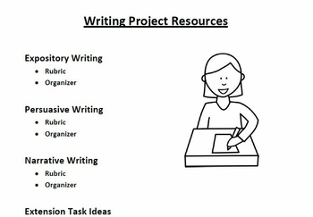 Writing Project - Persuasive, Expository, and Narrative (Cumulative)