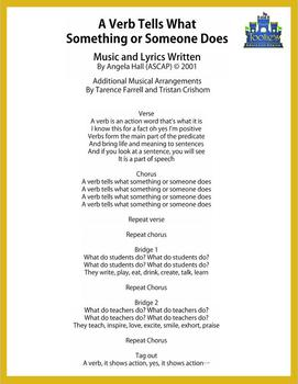 Learning Song: A Verb Tells What Something or Someone Does