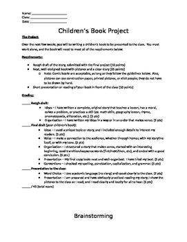 Writing Project: Write a Children's Book