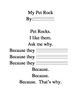 Writing Projects: Pet Rock Poetry