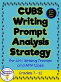 Writing Prompt Analysis Strategy