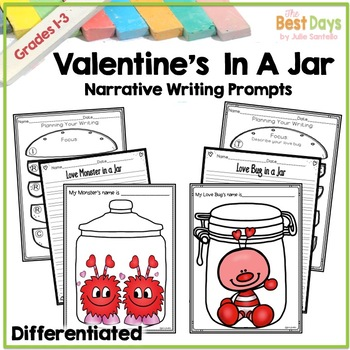 Valentines Day Writing Prompt:  Monster AND Love Bug in a Jar BUNDLE!
