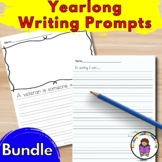 Differentiated Writing Prompt for Kindergarten Bundle - Entire School Year