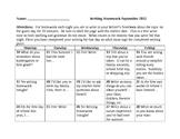 Writing Prompt Calendar 2012-2013 School Year