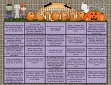 Writing Prompt Calendar - October