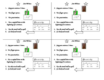 Writing Prompt Card for Primary Students - Sentences