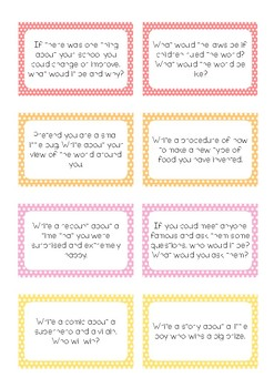Writing Prompt Cards
