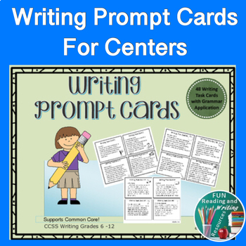 Writing Prompt Cards - 48 Writing Prompts - Task Cards