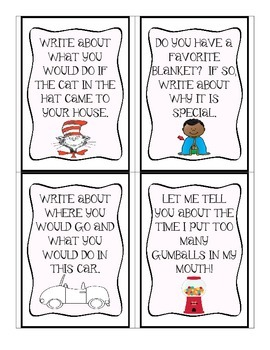 Writing Prompt Cards - 80 cards with a variety of themes