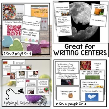 Writing Prompt Cards Bundle~ A Year Full of Writing Resources!