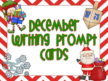Writing Prompt Cards - December