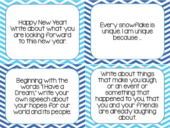 Writing Prompt Cards - January