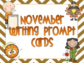 Writing Prompt Cards - November
