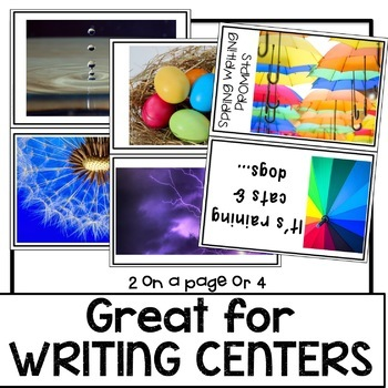 Spring Writing Prompt Cards