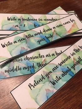 Writing Prompt Cards - Succulent Watercolour Design