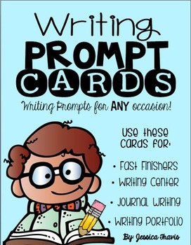 Writing Prompt Cards for ANY occasion! {freebie}