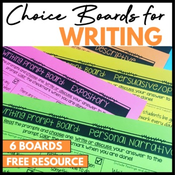 Writing Prompt Choice Boards