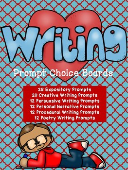 Writing Prompt Choice Boards: 6 writing genres included!