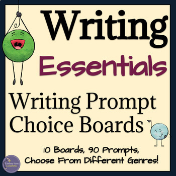 Writing Prompt Choice Boards for High School Students