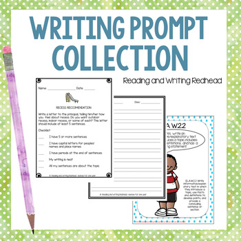 Writing Prompts | Printable No Prep Activities