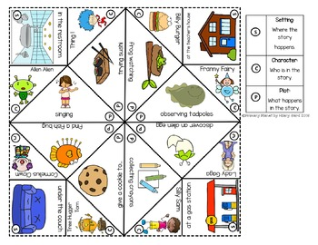 Wild & Wacky Writing Prompt Cootie Catcher Game with Paper