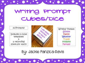 Writing Prompt Cubes/Dice - Writing Center Activity