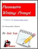 Free Writing Prompt: Persuasive Writing