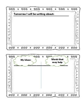 Writing Prompt Graphic Organizer