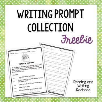 Writing Prompt - If I was in charge of my house, includes checklist