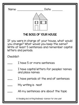 Writing Prompt | If I was in charge of my house