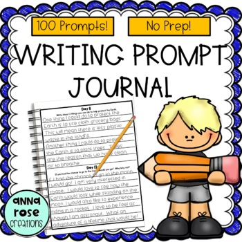 Writing Prompt Journal - 100 prompts!