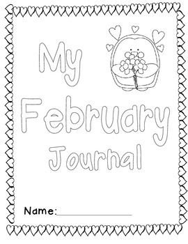 Writing Prompt Journal -February