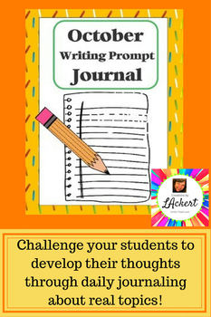 """Writing Prompt """"Journal"""" for October (4th-8th)"""