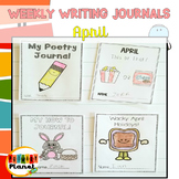 Writing Prompt Journals and Writing Paper for April