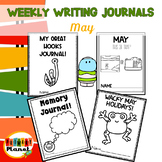 Writing Prompt Journals | Writing Paper for May | May Activities