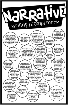Writing Prompt Menus - If You Prompt Them, They Will Write