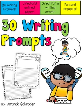 Writing Prompt Pack-Print and Go!