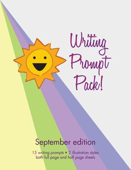 Back to School Journal Writing Prompt Pack --September Edition