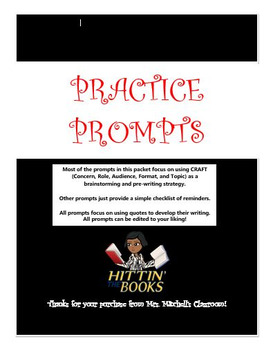 Practice Writing Prompts Packet