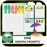 Writing Prompts & Paper June - Beautiful Picture Prompts + Written Prompts