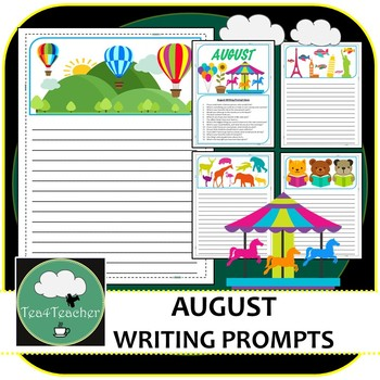 Writing Prompts & Paper August - Beautiful Picture Prompts + Written Prompts