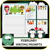 Writing Prompts & Paper February - Beautiful Picture Prompts + Written Prompts