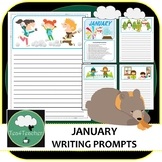 Writing Prompts & Paper January - Beautiful Picture Prompts + Written Prompts