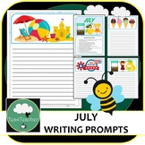 Writing Prompts & Paper July - Beautiful Picture Prompts + Written Prompts