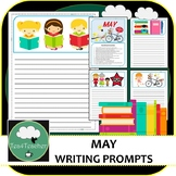 Writing Prompts & Paper May - Beautiful Picture Prompts + Written Prompts