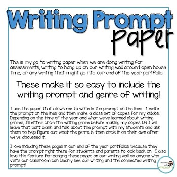 Writing Prompt Paper