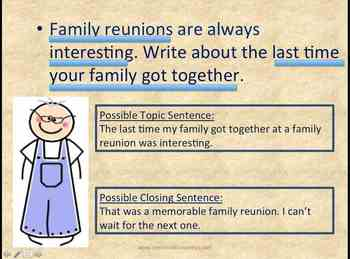 Writing Prompt (Personal Narrative) Family Reunion